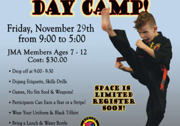 Kids Martial Arts Dy Camp Black Friday 2019